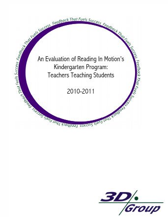 thumbnail image of An Evaluation of Reading In Motion's Kindergarten Program: Teachers Teaching Students 2010-2011 | Reading in Motion